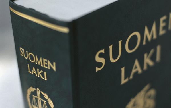 Suomen Laki-kirjan kansi.