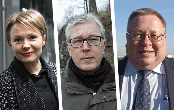 Riina Liikanen, Mikko Lindholm ja Ilkka Meriläinen.