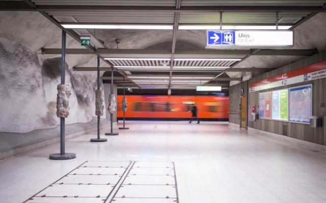 Helsingin metron asema.