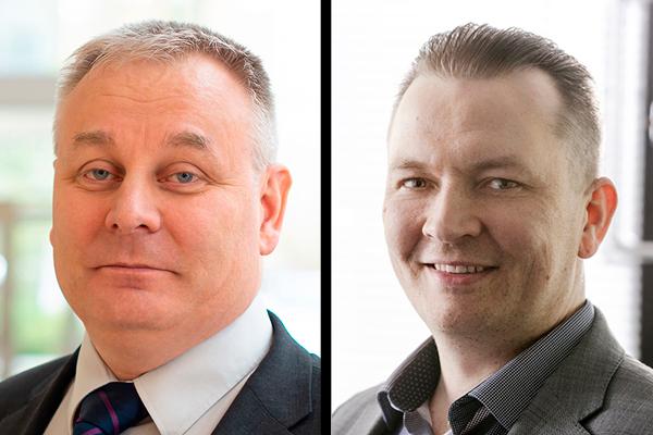 Perttu Luhtakanta ja Antti Kauppinen.