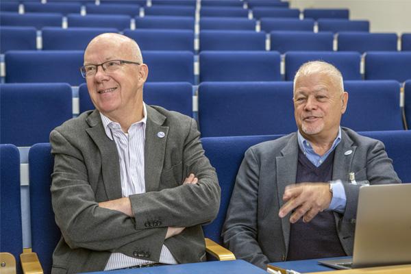 ERVE- uutiset 27.9.2019 Plugtest, Kuopio. TCCA: Jeppe Jensen ja Tony Gray. Kuva: Pentti Vänskä