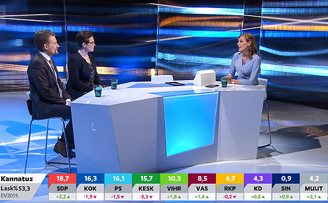 The result broadcast of the parliamentary elections.
