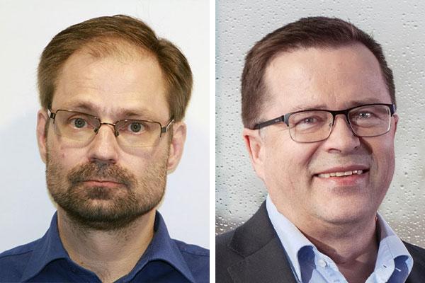PRIORITY-hankkeen projektipäällikkö Harri Posti (vas.) ja Erillisverkkojen kehityspäällikkö Kari Junttila ovat tyytyväisiä hankkeen etenemiseen ja uskovat, että siitä on hyötyä myös Virve 2.0:n kehitystyössä.