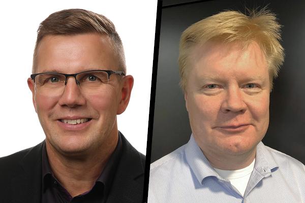 Kajaven varautumis- ja valmiuspäällikkö Ismo Reinikka (vas.) ja Fingridin verkkosääntö-projektivastaava Jari Siltala.