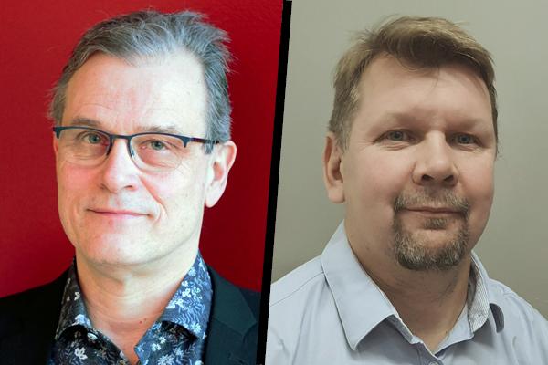 Erillisverkkojen asiakkuusvastaava Pekka Tynkkynen (vas.) ja projektipäällikkö Janne Lomma.