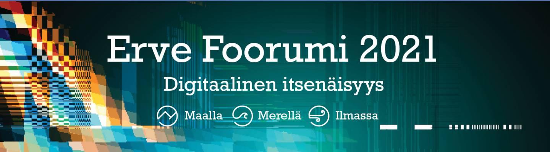 Erve Foorumi 2021 logo. Foorumin teemana digitaalinen itsenäisyys.