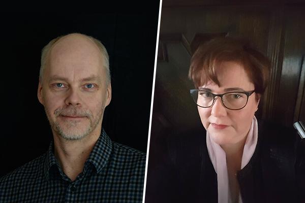 Valtorin palvelupäällikkö Ari Ilkka ja tuotepäällikkö Pia Sundström.