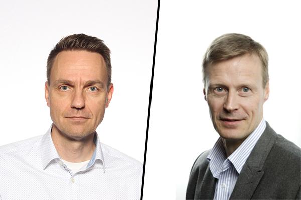 Erillisverkkojen palvelupäällikkö Petteri Tarkiainen ja asiakkuuspäällikkö Kari Niinimäki.